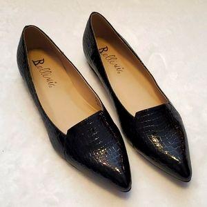 NWOT Bellini Black Snakeskin Shoes